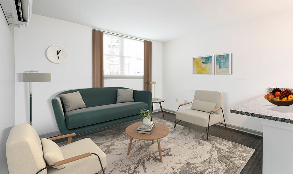 Enjoy apartments with a modern living room at Greenwood Cove Apartments