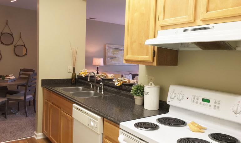 Beautiful kitchen at Mill Pond Village Apartments in Salisbury, Maryland