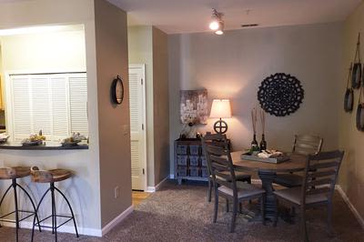 Dining Room at Mill Pond Village Apartments in Salisbury, Maryland