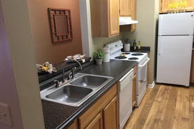 Kitchen at Mill Pond Village Apartments in Salisbury, Maryland