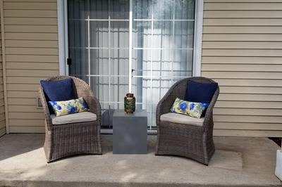 Private Patio at Mill Pond Village Apartments in Salisbury, Maryland