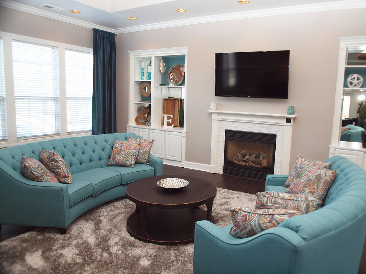 Clubhouse community space at Emerald Lakes in Greenwood, Indiana