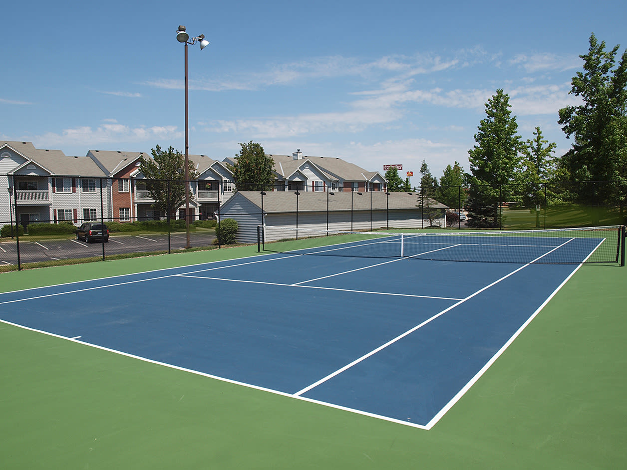 Tennis court at Emerald Lakes in Greenwood, Indiana