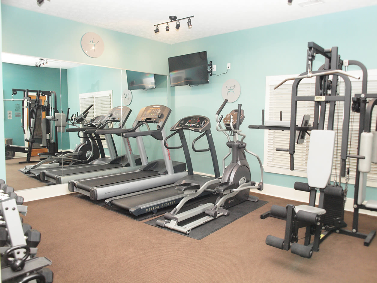 Fitness center at Fox Chase South in Southgate, Kentucky