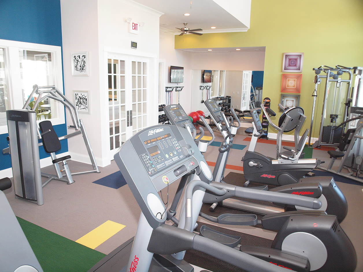 Fitness center at Kendal on Taylorsville in Louisville, Kentucky
