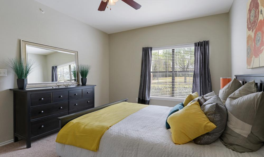 Spacious bedroom at apartments in Mansfield, TX