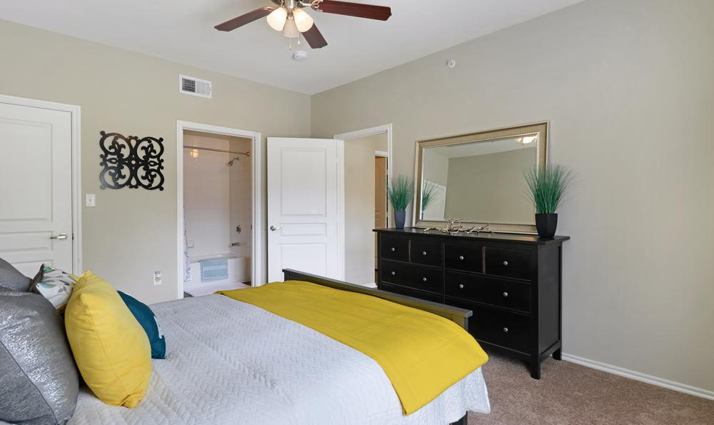 Bedroom at apartments in Mansfield