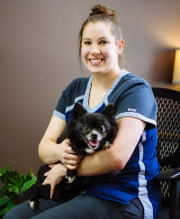 Heather at Kitsap Veterinary Hospital.