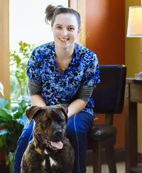 Cassie at Kitsap Veterinary Hospital.