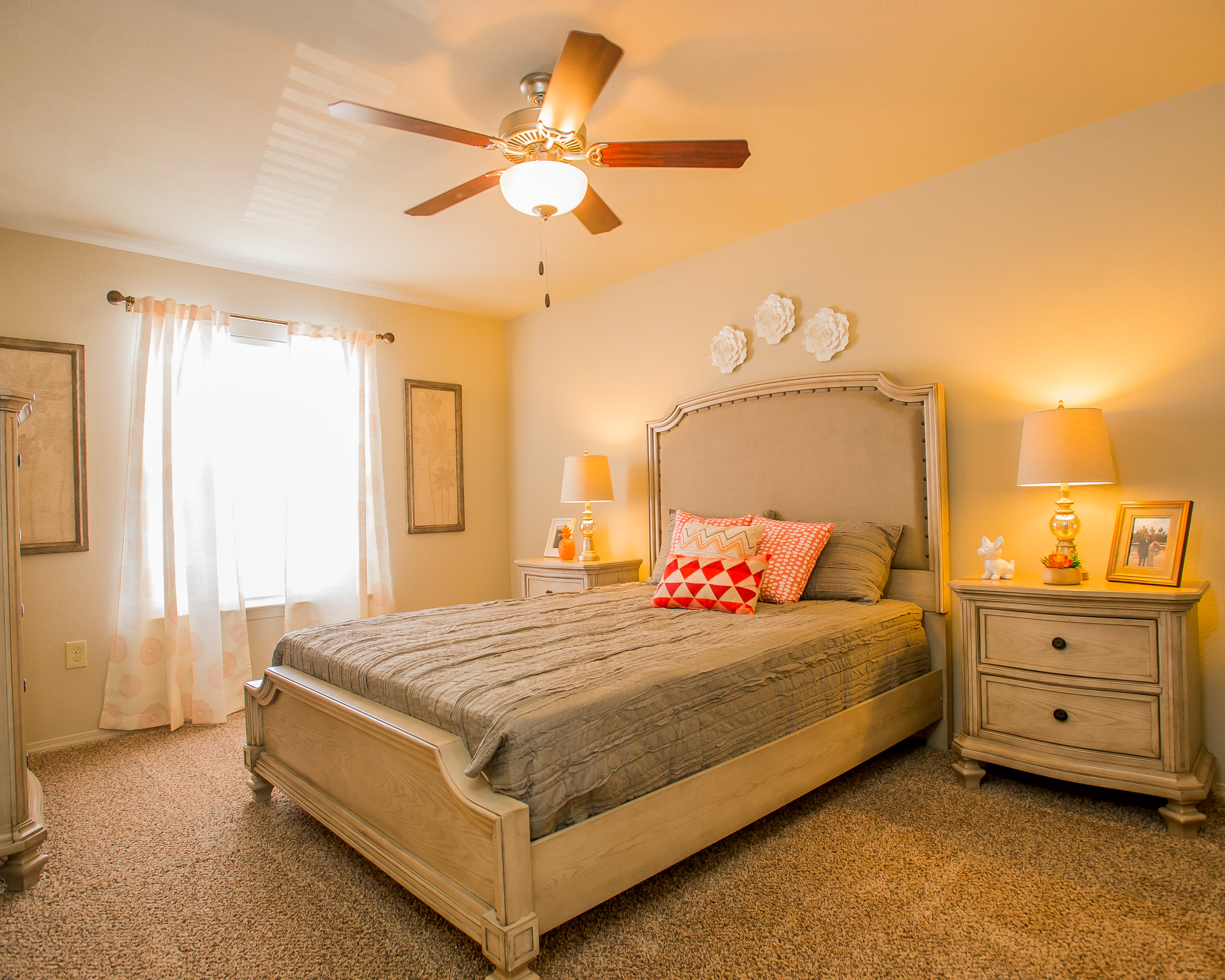 Bedroom at Portico at Friars Creek Apartments in Temple, Texas