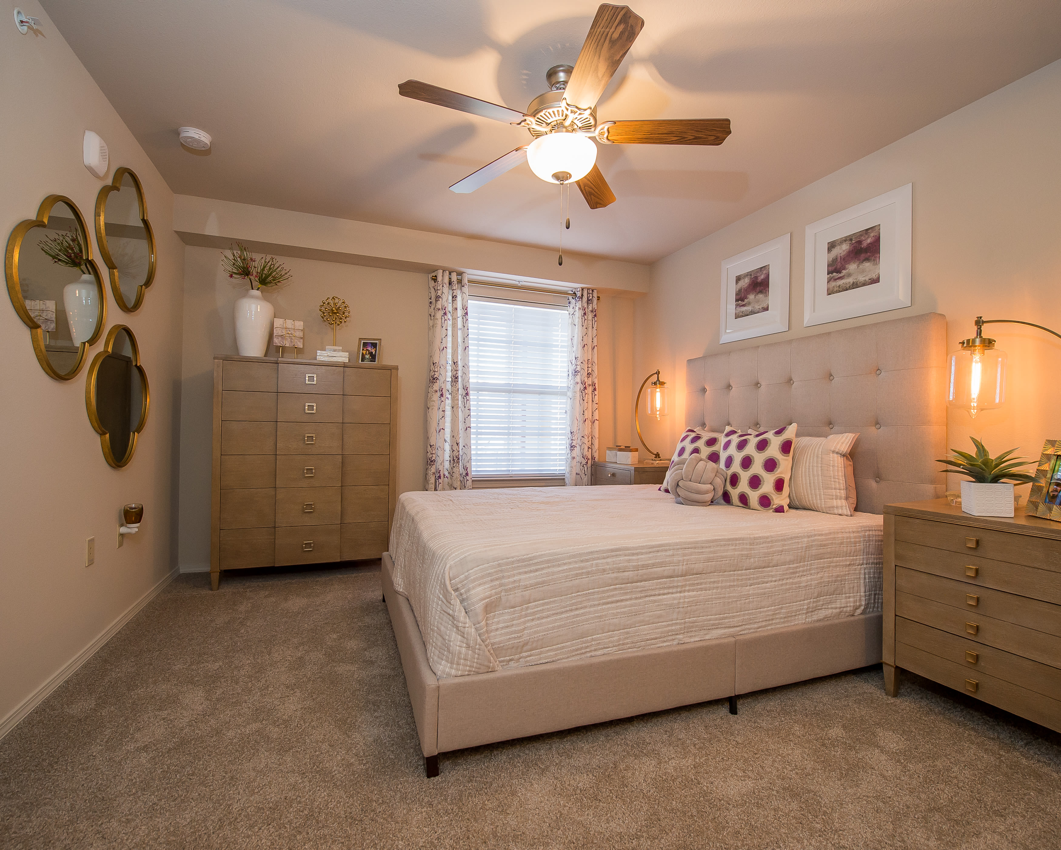 Portico at Friars Creek Apartments offers a bedroom in Temple, Texas