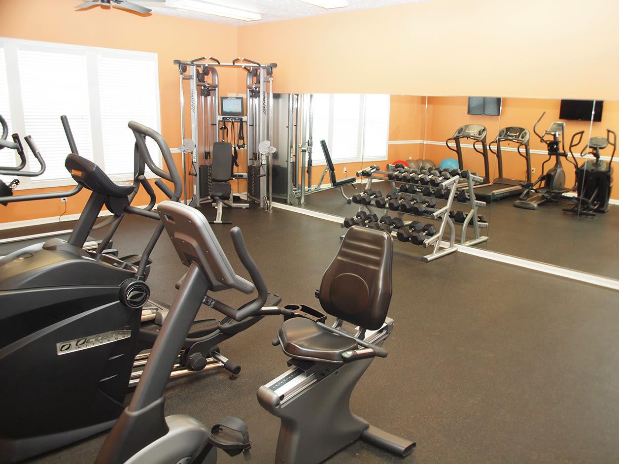 Fitness center at Shadow Ridge in Louisville, Kentucky