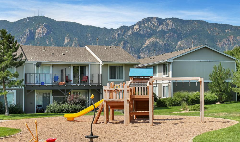 Spacious kids park at Broadmoor Ridge Apartment Homes in Colorado Springs, CO