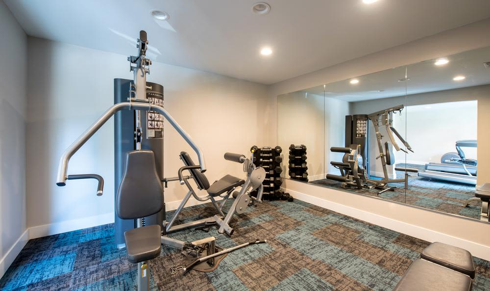 Modern fitness center at Sofi Thousand Oaks in Thousand Oaks, CA