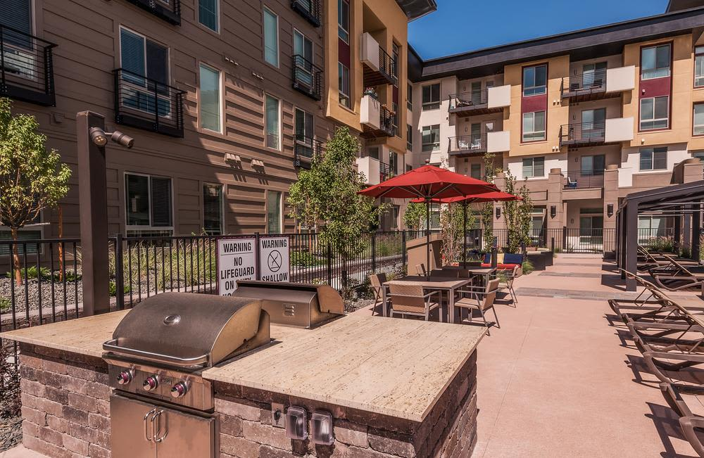 Spacious bbq area at Solana Cherry Creek in Denver, Colorado