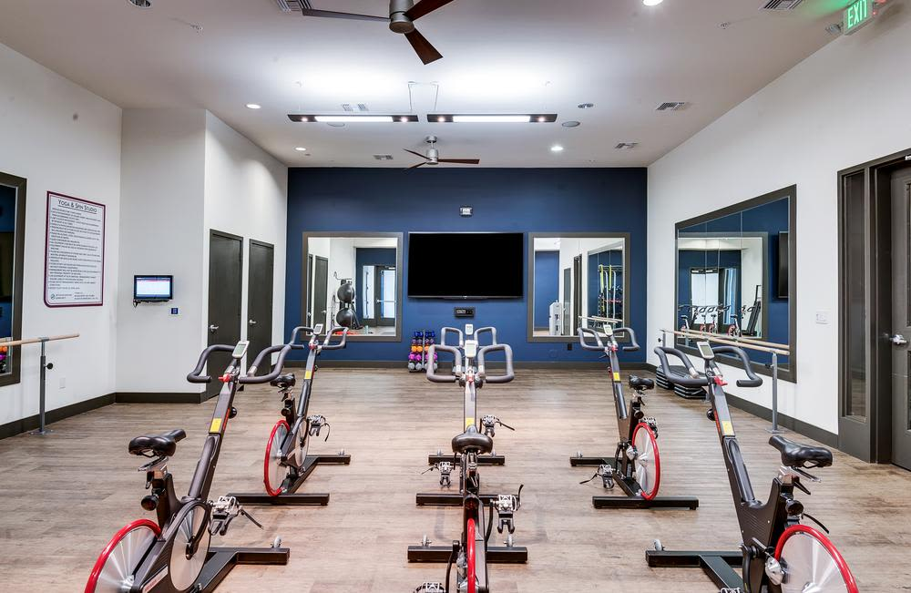 Luxury fitness center at Solana Cherry Creek in Denver, Colorado