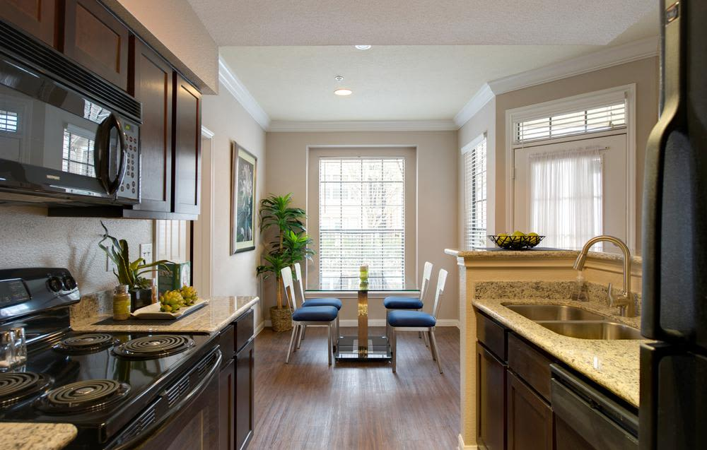 Modern and well-equipped kitchen in Greenbriar Park model home