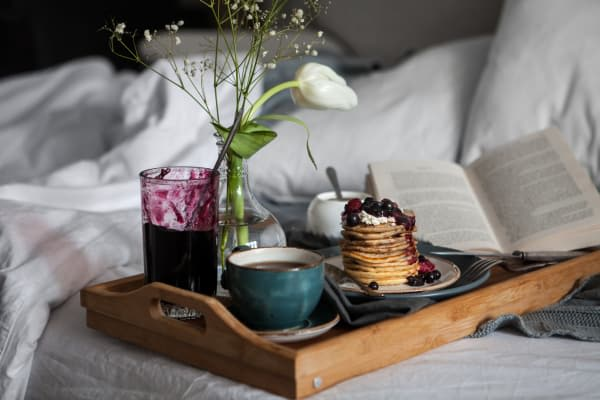 Breakfast in bed at Richmond Hill Apartments in Richmond Hill, Ontario