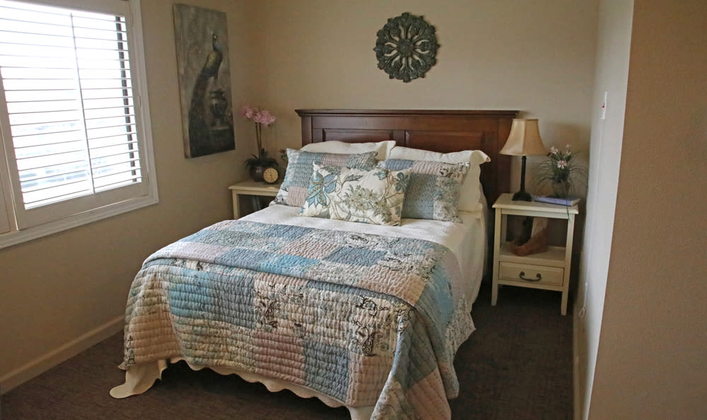 Resident's Bedroom At Senior Living in Longview
