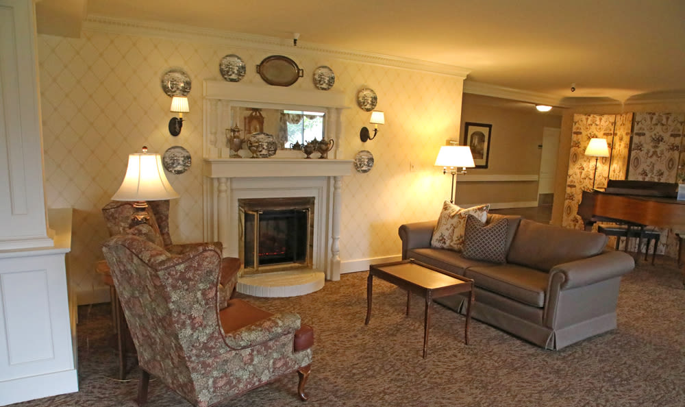 Warm Living Room at Senior Living in Longview