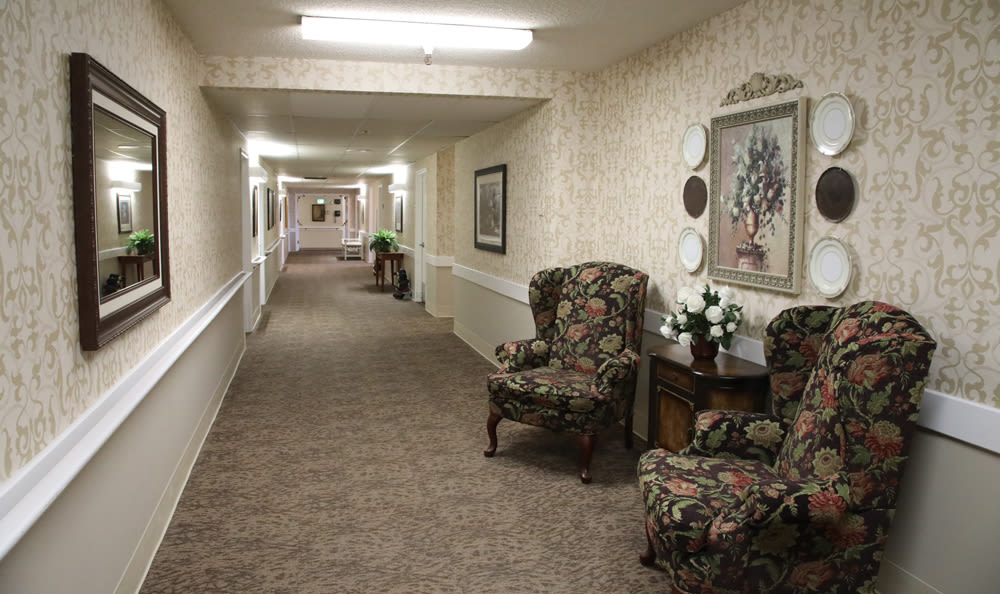 Updated Hallway At Senior Living In Longview