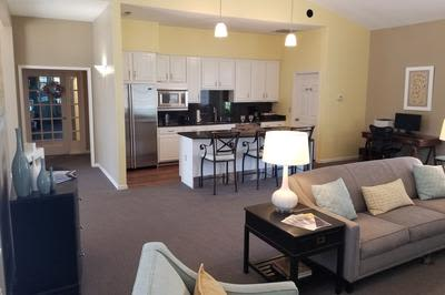 Living Room and Kitchen at Mill Pond Village Apartments in Salisbury, Maryland