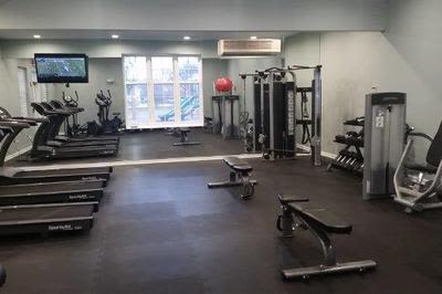 Fitness center at apartments for rent at Mill Pond Village Apartments in Salisbury, Maryland