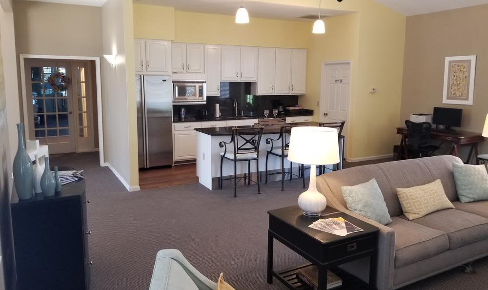 Livingroom Views at Mill Pond Village Apartments in Salisbury, MD