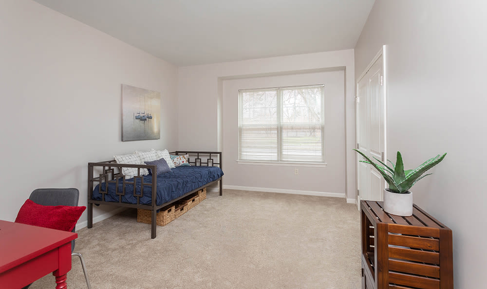 Bedroom at North Ponds Apartments in Webster, NY