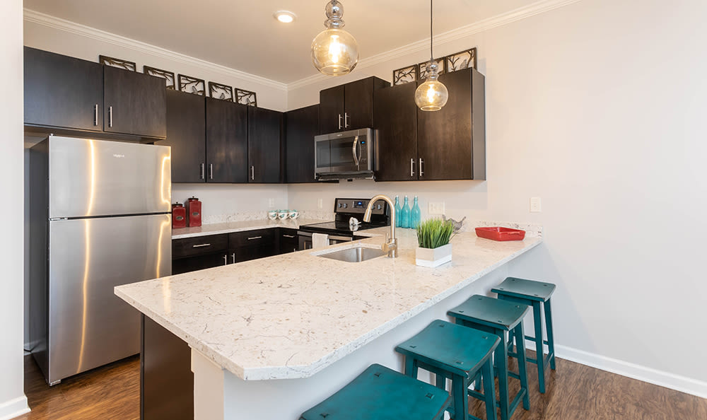 Kitchen at apartments in Webster, NY