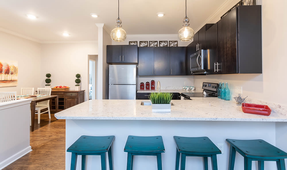 Spacious kitchen at North Ponds Apartments in Webster, NY