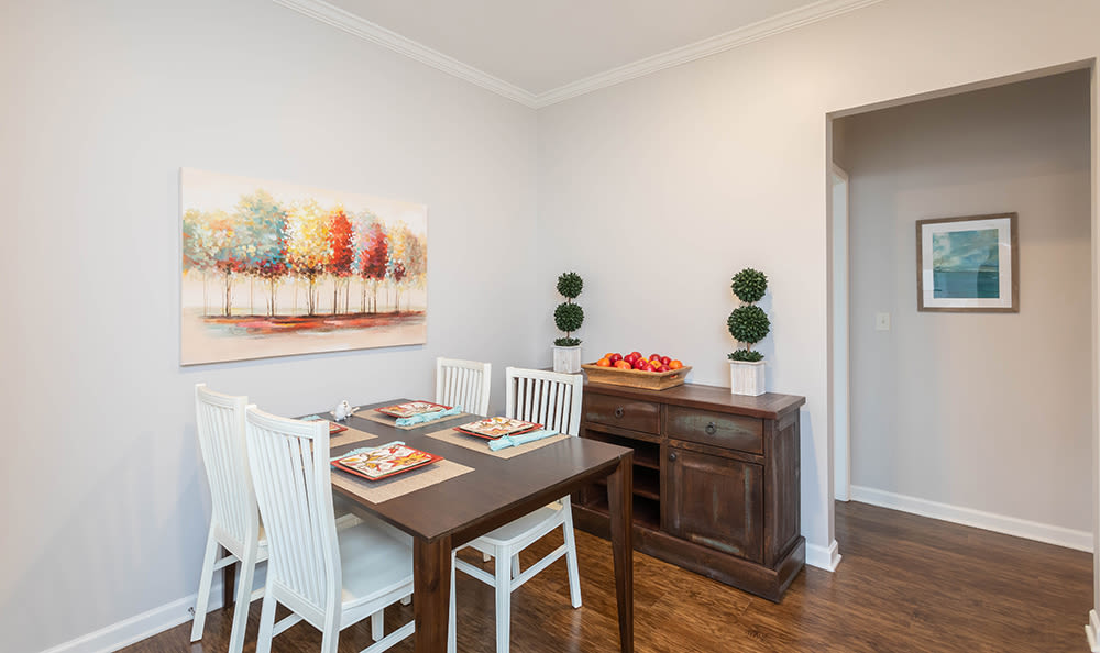 Dining area at apartments in Webster, NY