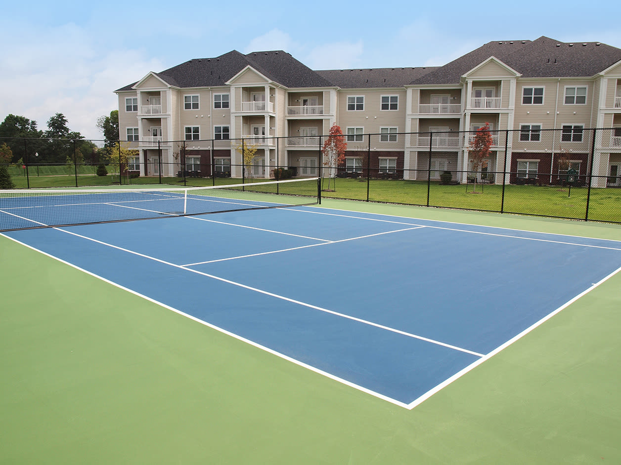 Tennis court at Meridian on Shelbyville in Louisville, Kentucky