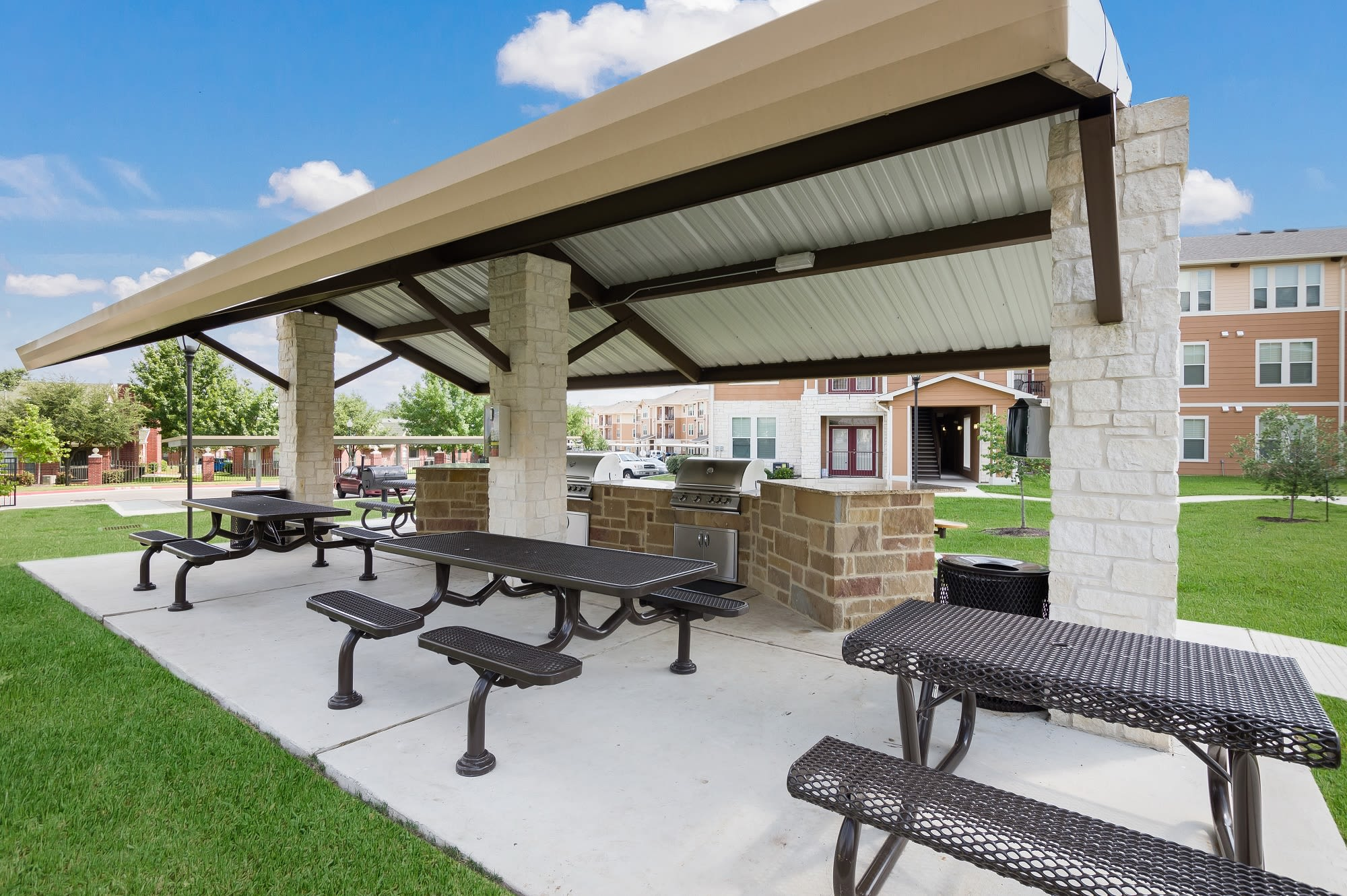 Grilling Area at apartments in San Marcos, TX