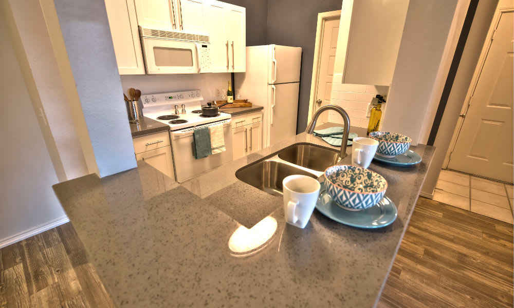 Enjoy a well equipped kitchen at Preston Hollow Apartments