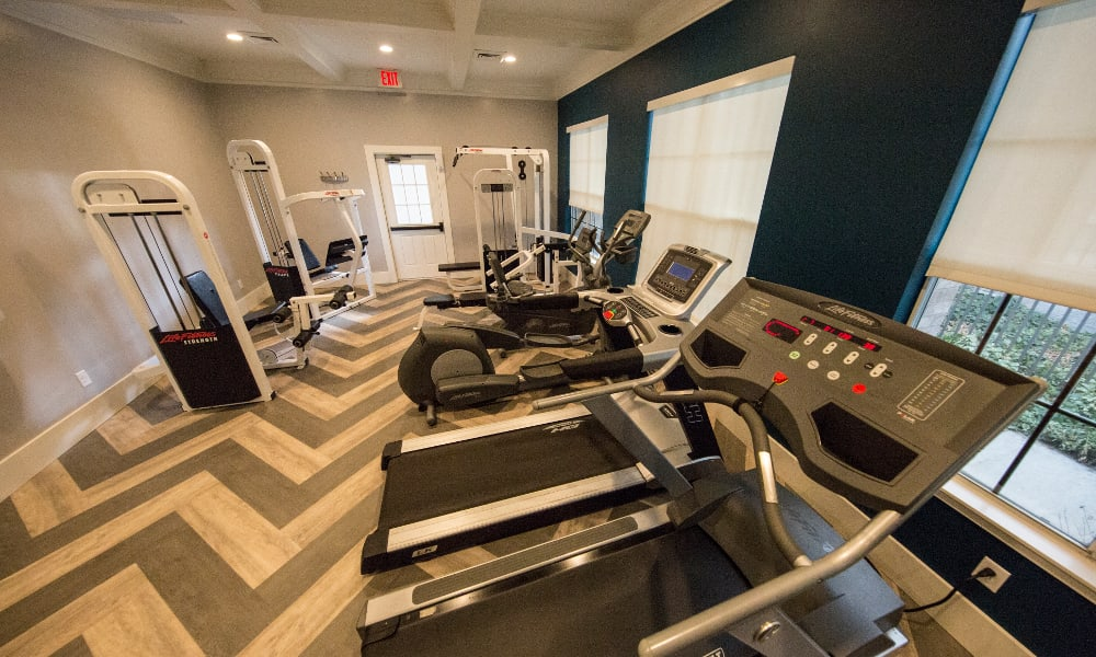 Fitness center at Preston Hollow Apartments