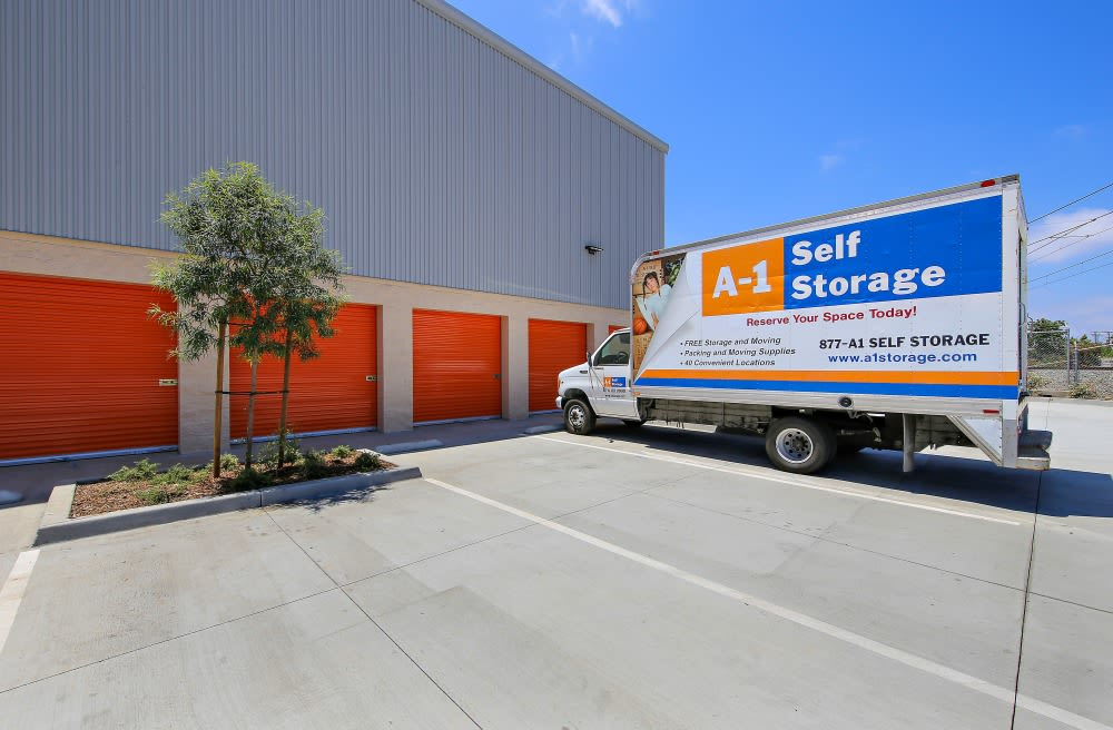 Moving truck at A-1 Self Storage in National City California