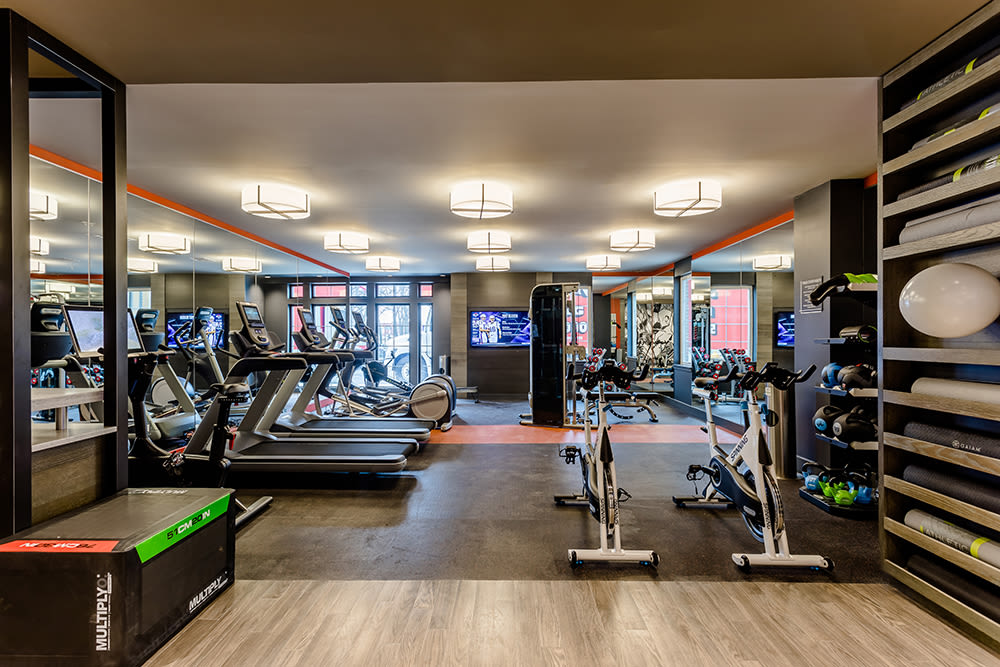 Fitness center at 933 the U in Rochester, New York