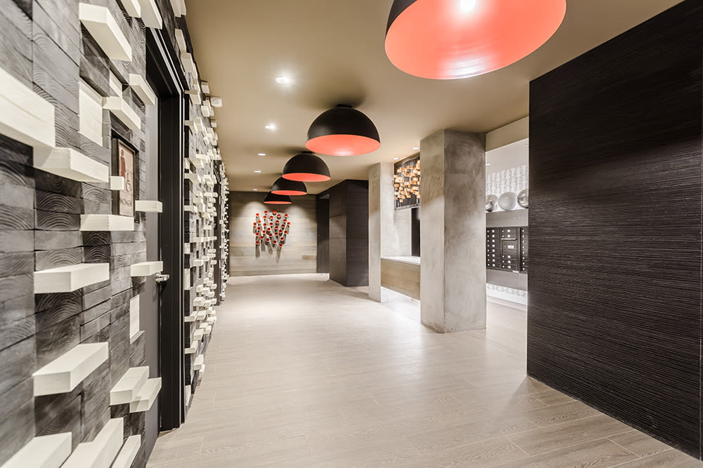 Elevatory lobby at 933 the U in Rochester, New York