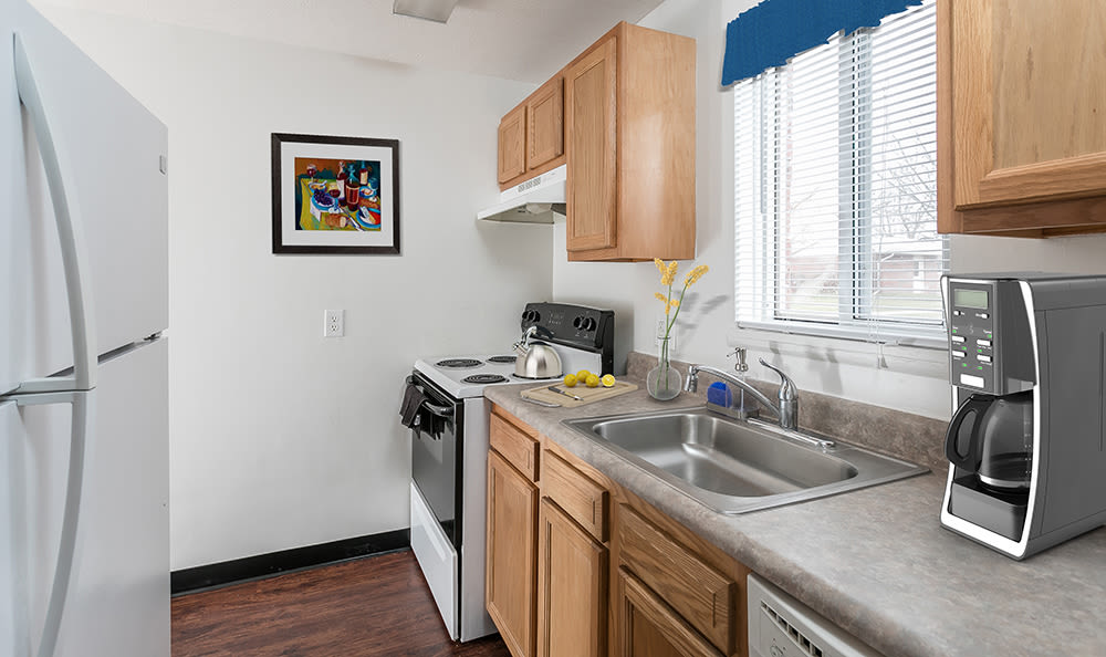 Well-equipped kitchen at Brockport Crossings Apartments & Townhomes in Brockport