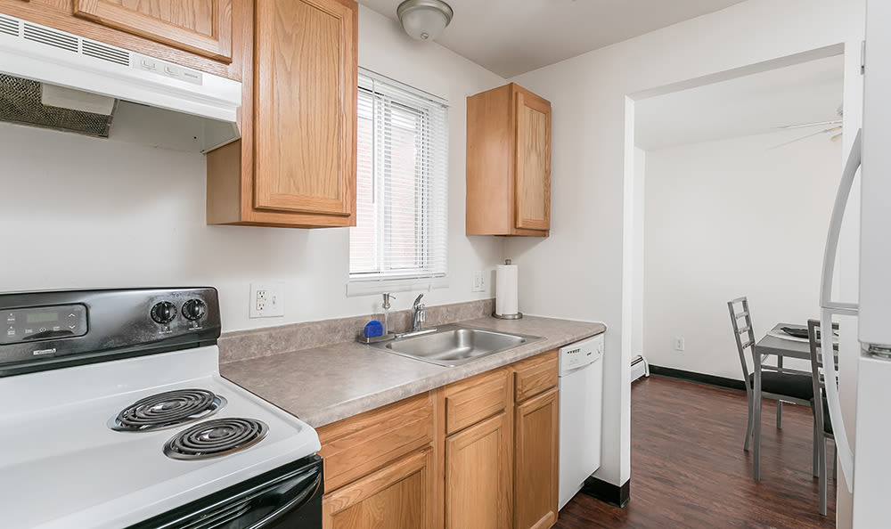 Well-equipped kitchen at Brockport Crossings Apartments & Townhomes in Brockport, New York