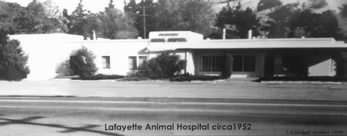 Lafayette Animal Hospital back in 1952