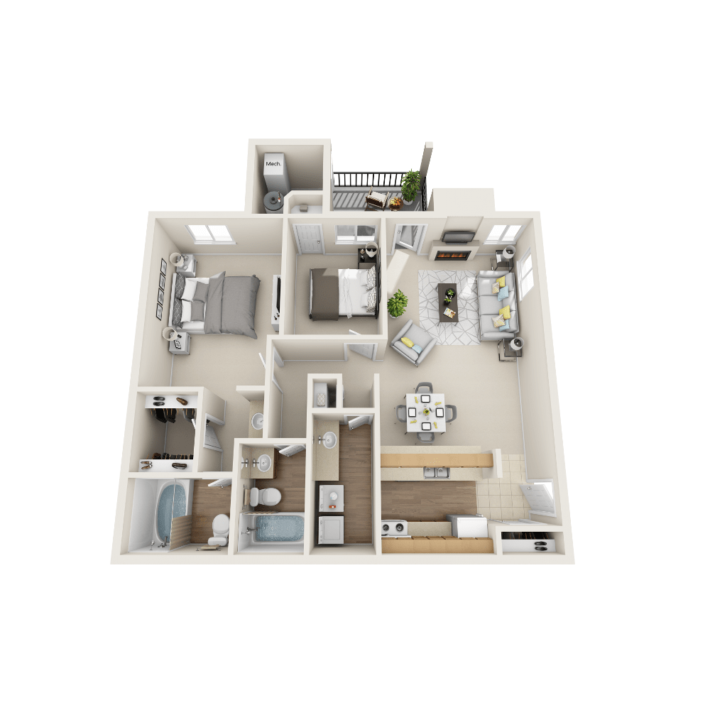 Brooke floor plan at Vistas at Stony Creek Apartments