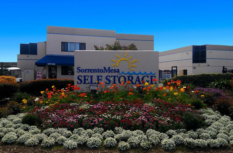Exterior view of Sorrento Mesa Self Storage in San Diego, CA.