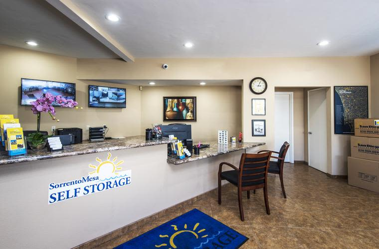 Dollies and carts are available to make your move easier at Sorrento Mesa Self Storage in San Diego, CA.