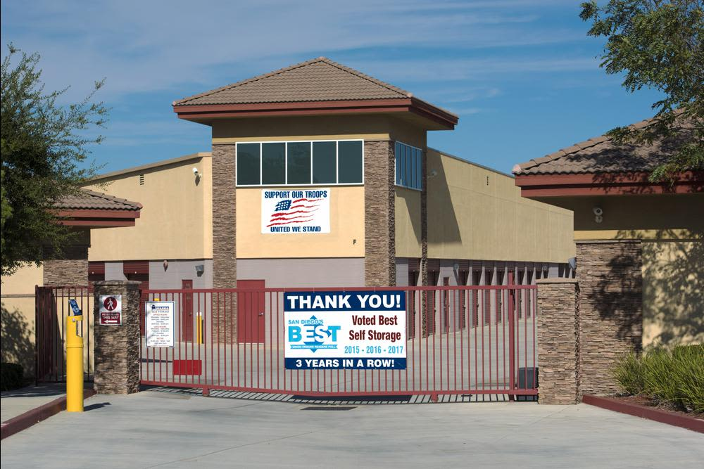 External view of Butterfield Ranch Self Storage in Temecula.
