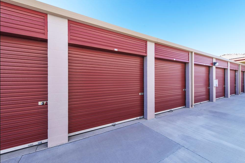 Butterfield Ranch Self Storage has many exterior units.