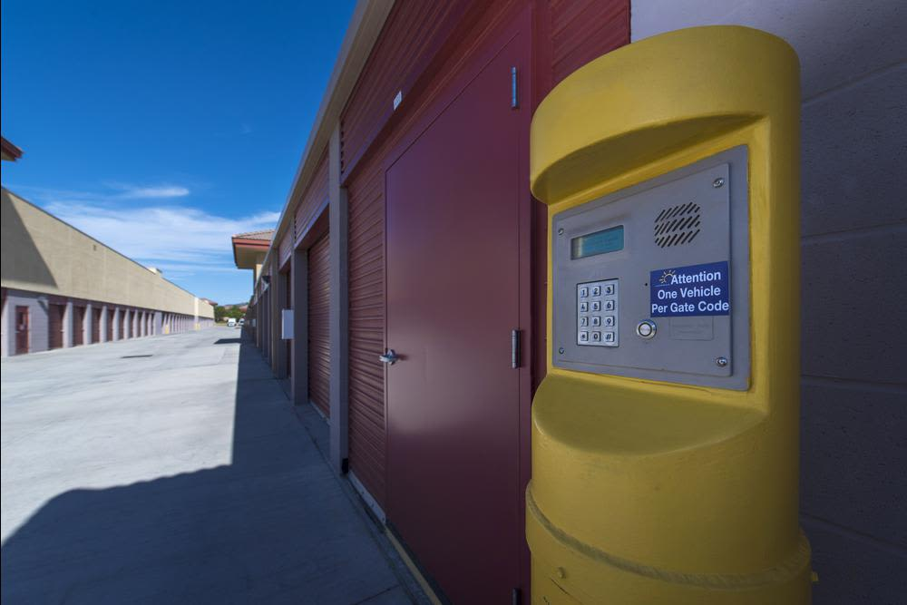Security code at Butterfield Ranch Self Storage in Temecula, CA
