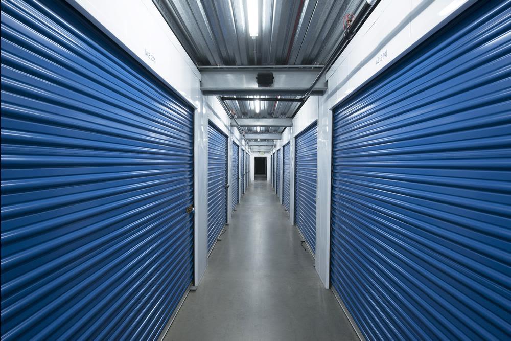 Interior self storage units at National/54 Self Storage