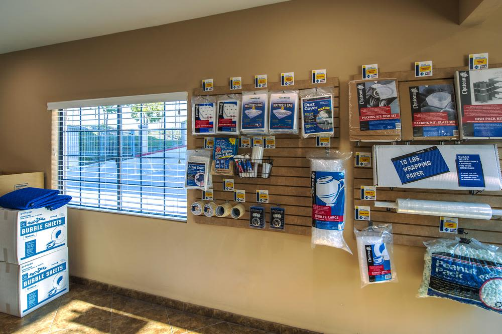 National/54 Self Storage offers moving supplies